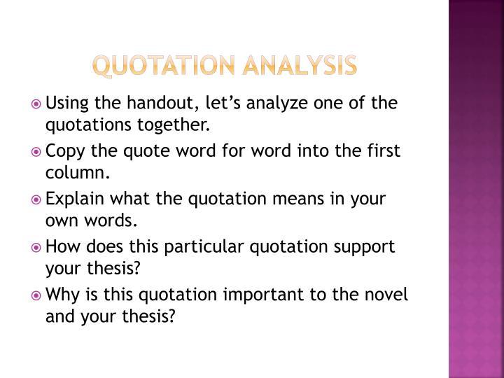 quote analysis essays