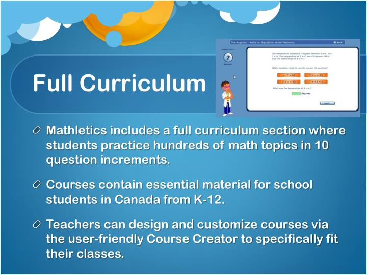Full Curriculum