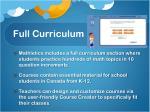 full curriculum