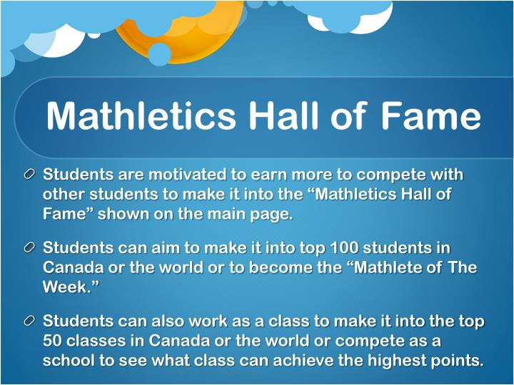 Mathletics Hall of Fame