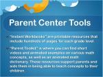 parent center tools