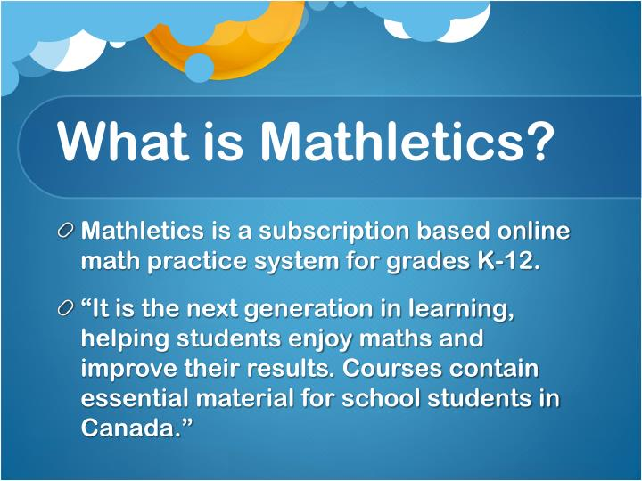 What is Mathletics?