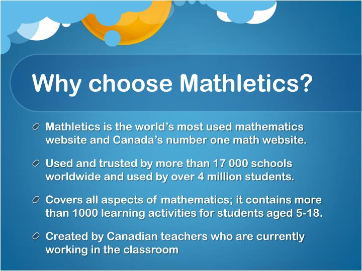 Why choose mathletics