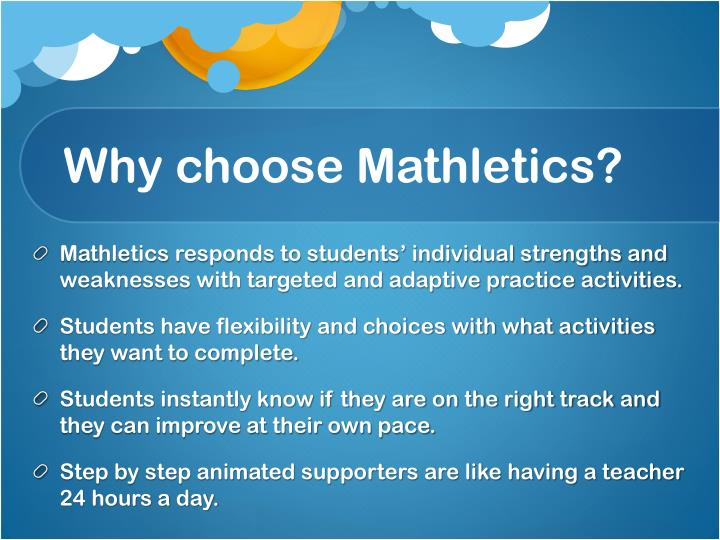 Why choose Mathletics?
