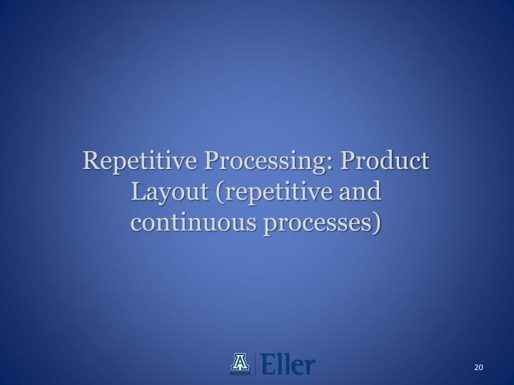 Repetitive Processing: Product