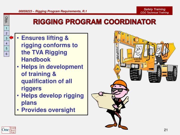 RIGGING PROGRAM COORDINATOR