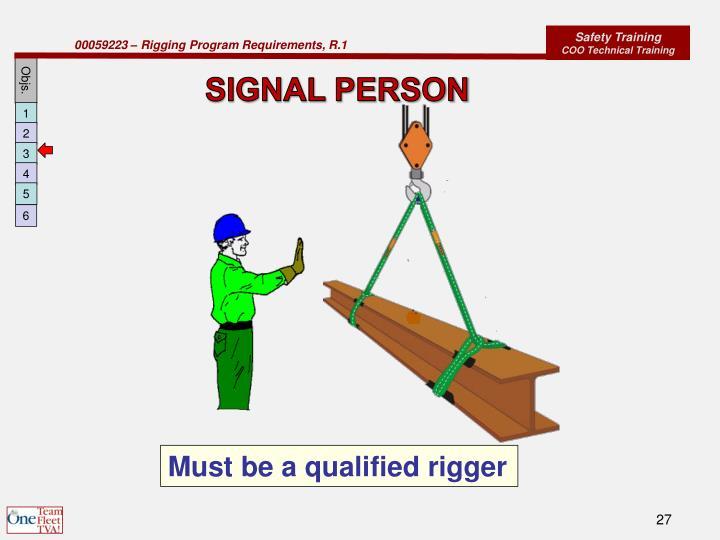 SIGNAL PERSON