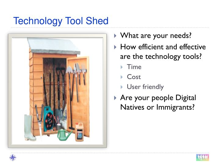 Technology Tool Shed