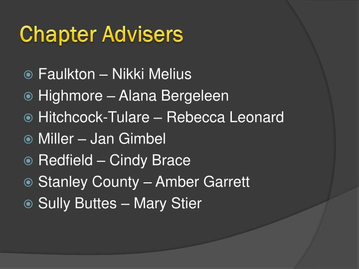 Chapter Advisers