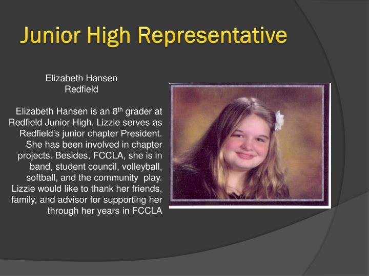 Junior High Representative