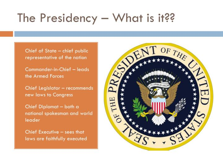 The Presidency – What is it??