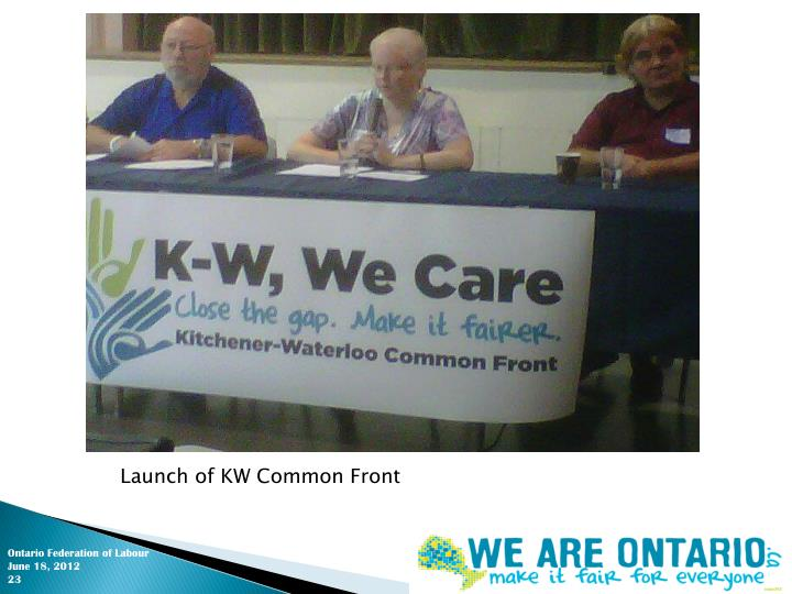 Launch of KW Common Front