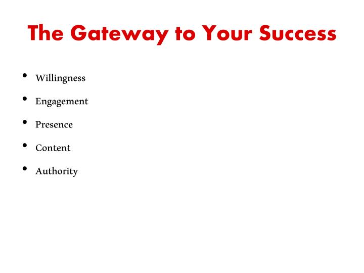 The Gateway to Your Success