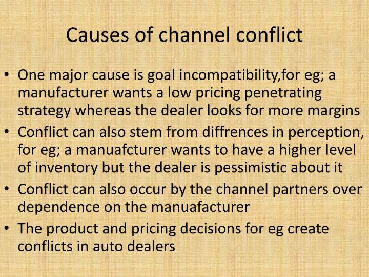 Causes of channel conflict