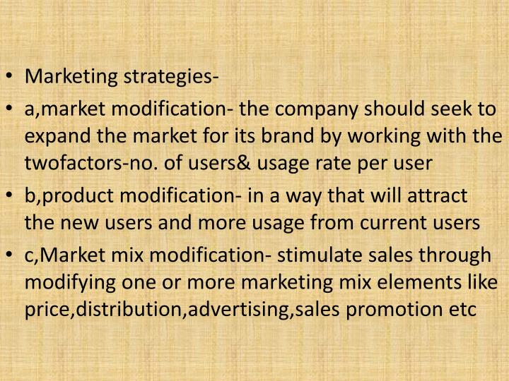 Marketing strategies-