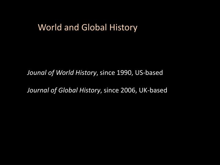 World and Global History