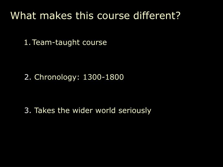 What makes this course different?