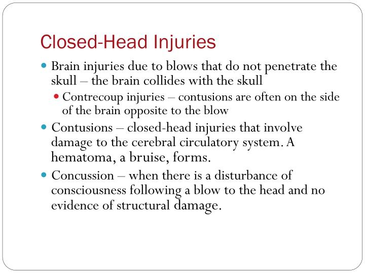 Closed-Head Injuries