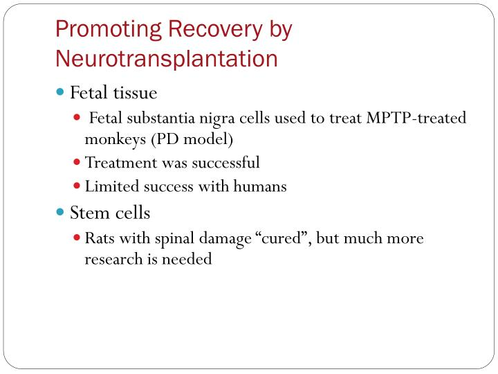 Promoting Recovery by Neurotransplantation