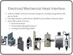 electrical mechanical head interface