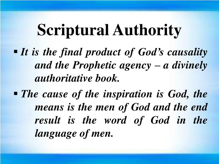 Scriptural Authority