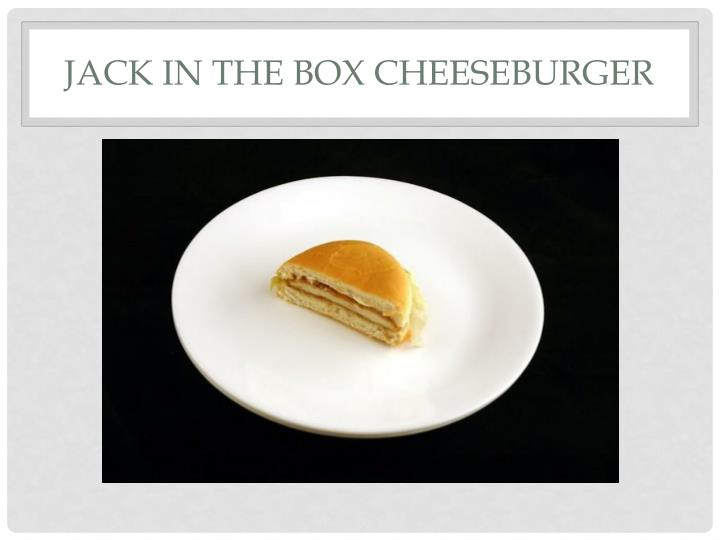 Jack in the Box Cheeseburger