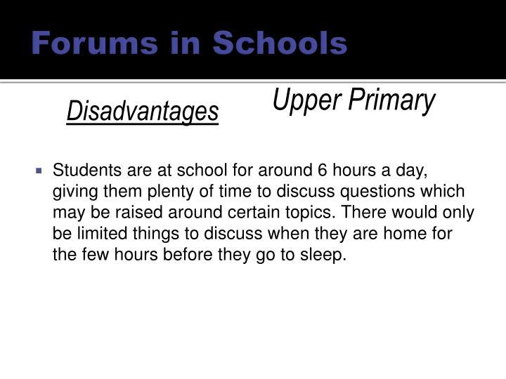 Forums in Schools