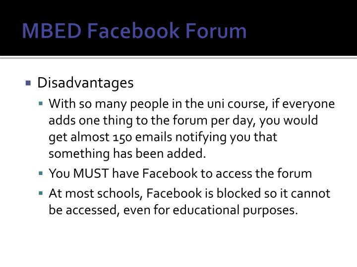 MBED Facebook Forum