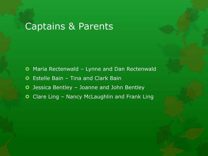 Captains & Parents