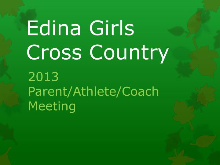 Edina girls cross country