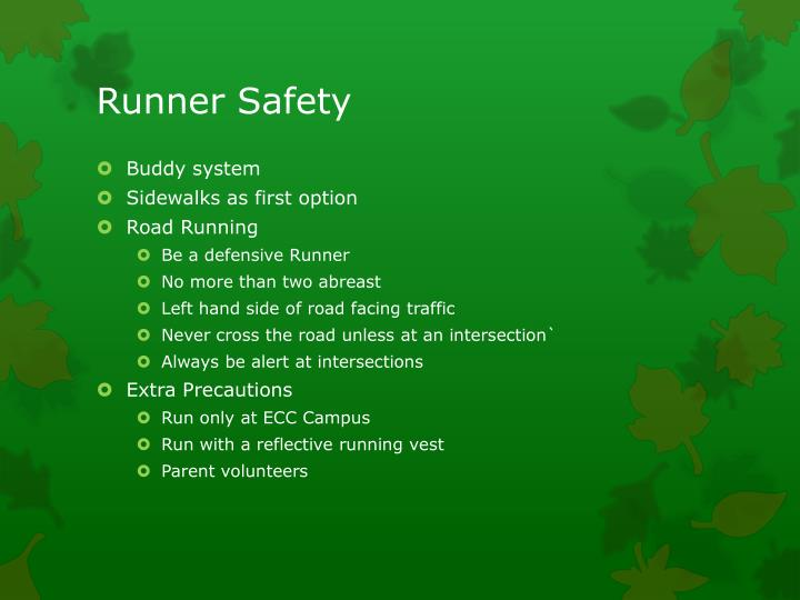 Runner Safety