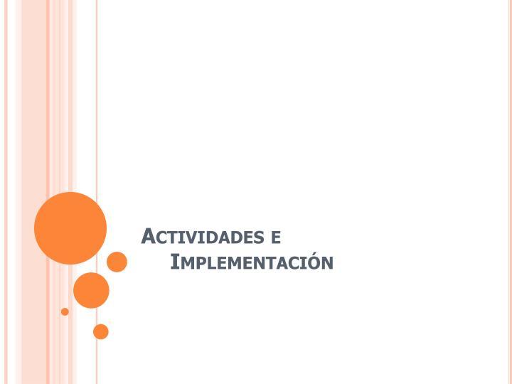 Actividades e