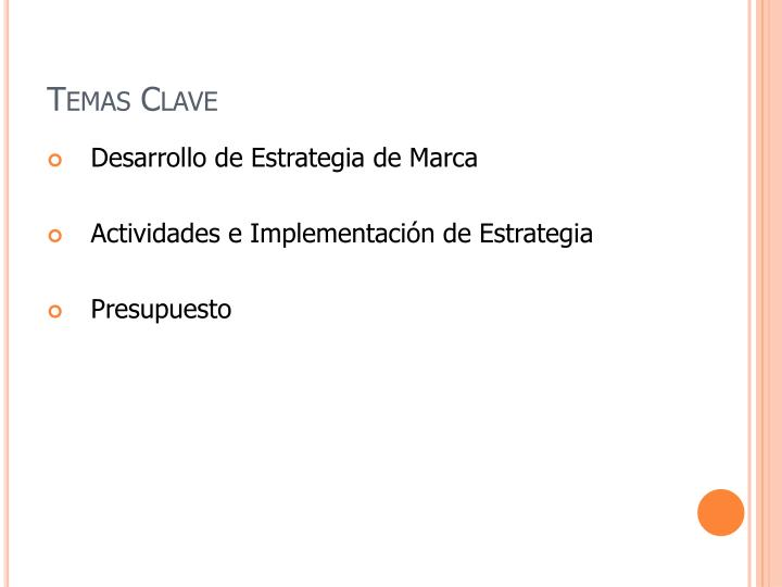 Temas Clave