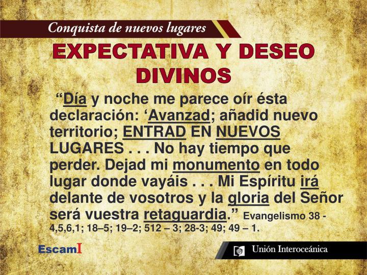 EXPECTATIVA Y DESEO DIVINOS