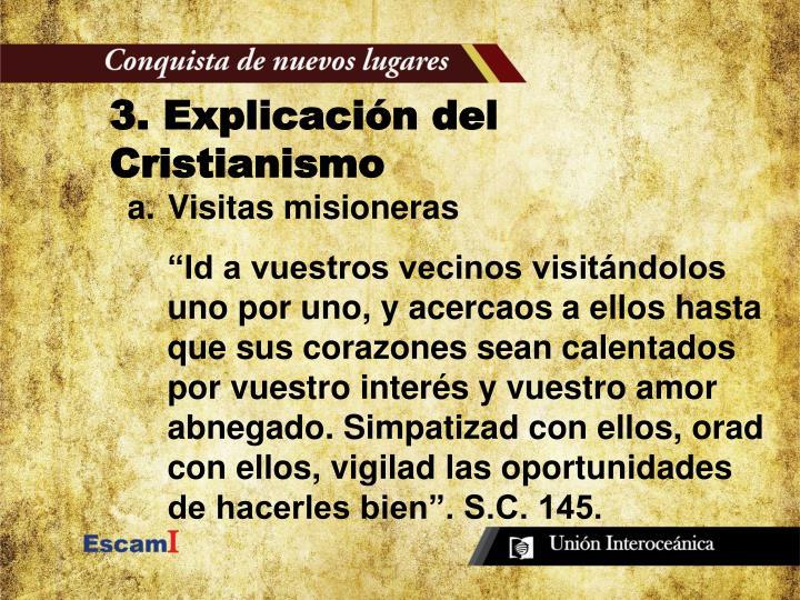 3. Explicación del Cristianismo