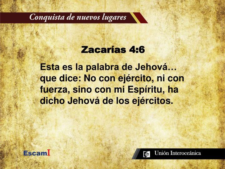 Zacarías 4:6