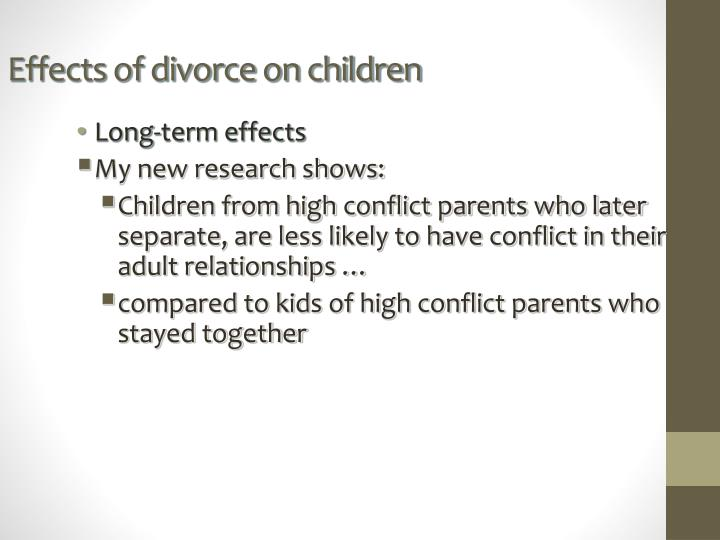 research paper on the impact of divorce on children