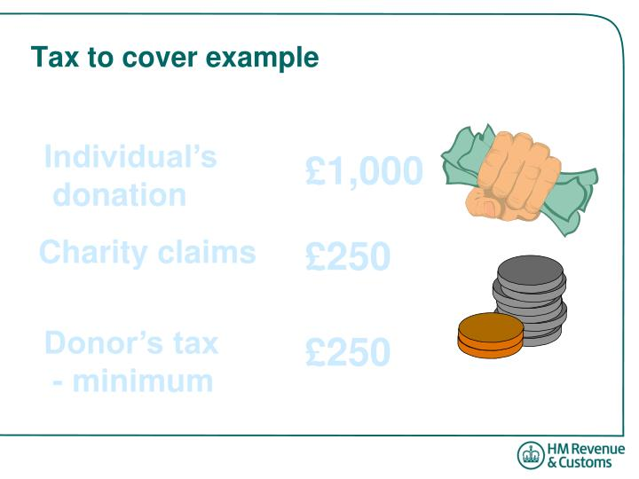 Tax to cover example