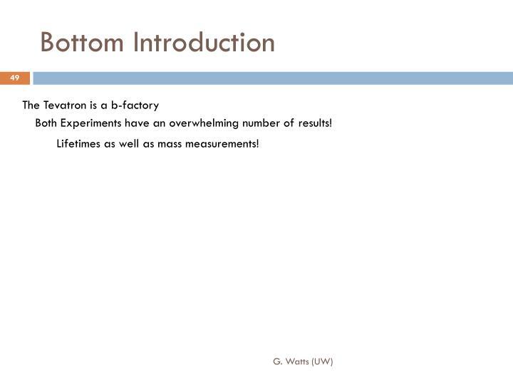 Bottom Introduction