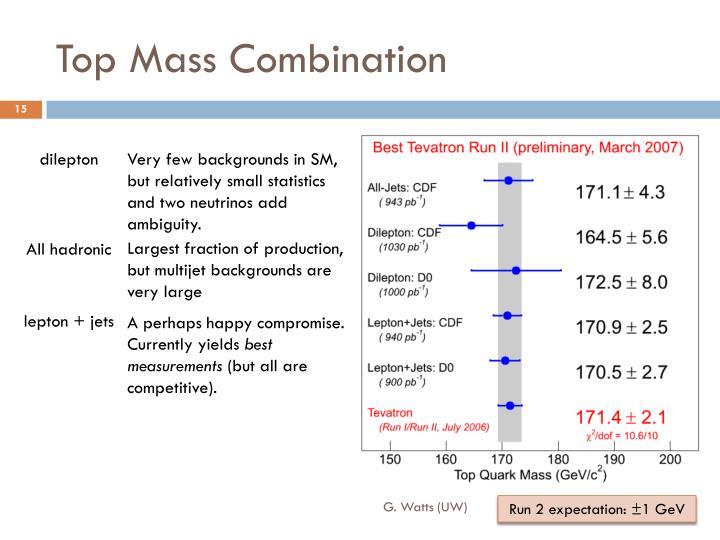 Top Mass Combination