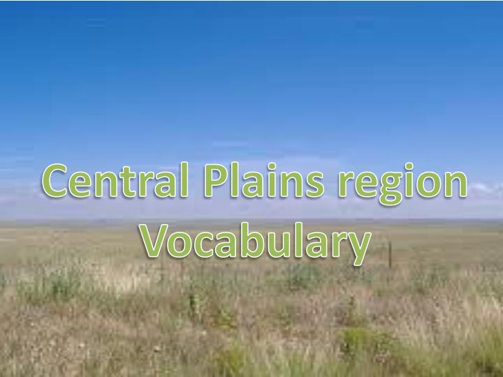 Central Plains region