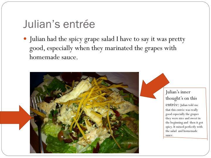Julian's entrée