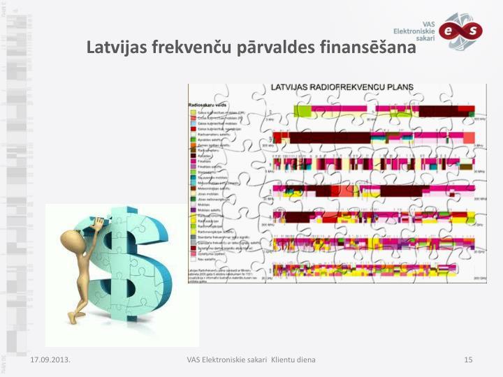 Latvijas frekvenču pārvaldes finansēšana