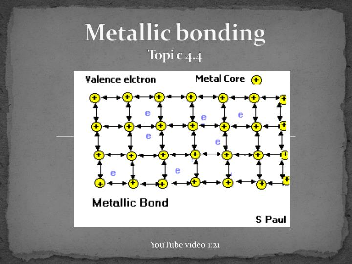 Metallic bonding topi c 4 4