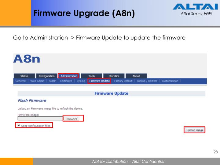 Firmware Upgrade (A8n)