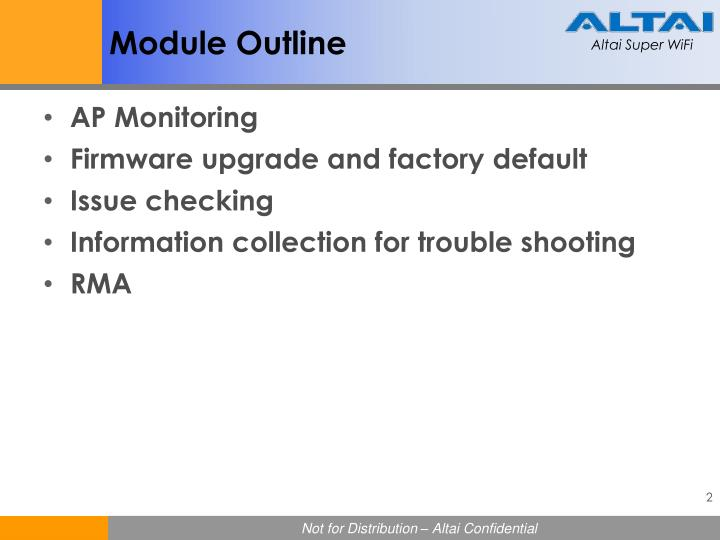 Module Outline