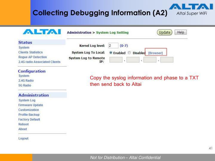 Collecting Debugging Information (