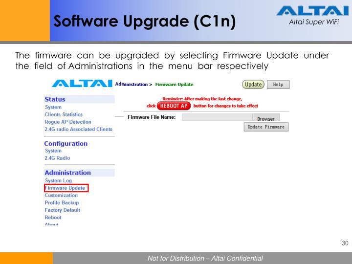 Software Upgrade (C1n)