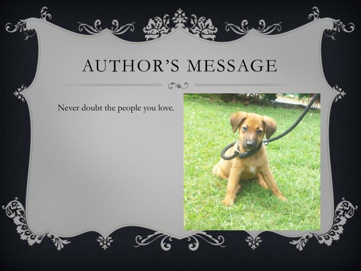 Author's Message
