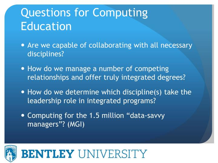 Questions for Computing Education